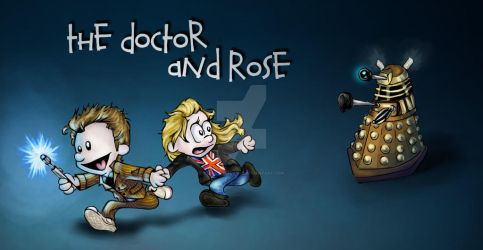 The Doctor and Rose by SteamboatLyssie