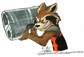 Copic practice: Rocket by Slasher12