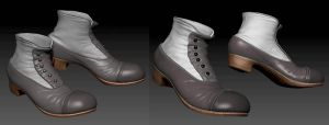 Zbrush Exercise Antique Shoes by susanavillegas