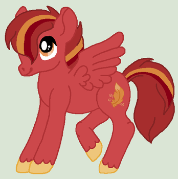 ~ Art trade ~  Maroon Goldfeather by TheWritingHippo