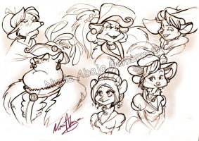 GMD Victorian Ladies Mice by nuriaabajo