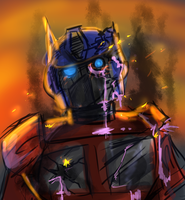 that one time that Optimus was a zombie by titanium-starfish