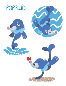 Popplio by TinySkye