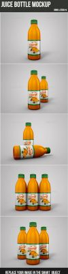 Juice Bottle Mockup by graphickey
