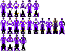 Violet/purple Ranger Keys by Iyuuga