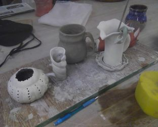 First ceramics projects by chilmarkgryphon
