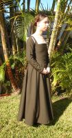 Green Brown Kirtle Sideshot by CenturiesSewing