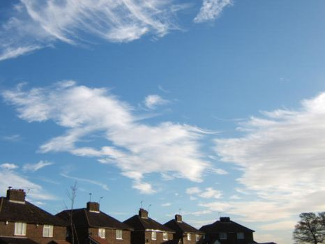 Cloud creature jumps houses by Annelisa-Views