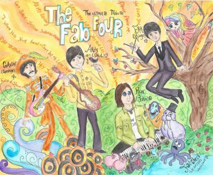 The Fab Four by Spongefifi