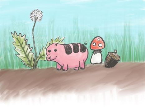 Very Tiny Pig by neolith-studios