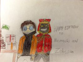 Happy Birthday To Memoski and Zebesian by MordecaiGTR