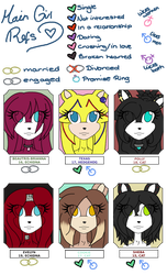 Main Girls References: Headshots 02 by Sophiecinders14