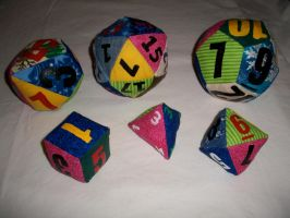 Plushie Dice Set by panandora