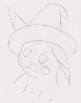 Sketchtober day 29-Witch Pikachu by Love-And-Cyanide88