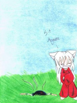 Sit Kagome by Yao-and-Amber