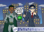 Meteorman and Clark Kent by GroundUpStudios