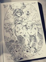 INKTOBER Day 16: Veterinary Witch - JASMINE by Drawing-Heart