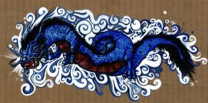 Blue Dragon by berf