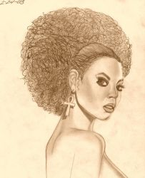 BEYONCE' SKETCH 1 by alichapuis