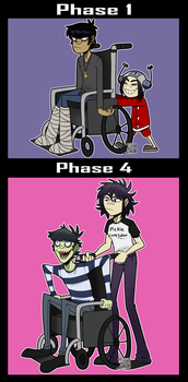 Pickle father and Noodle - Gorillaz by Ashesfordayz