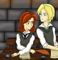 HP7_Rose and Scorpius_3rd year by FEuJenny07