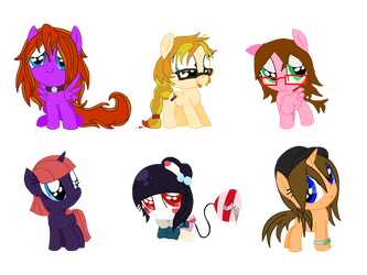Chibi pony collab thingy ~Closed~ by VeronicaPrower