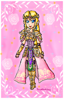 hyrule warriors-zelda by ninpeachlover