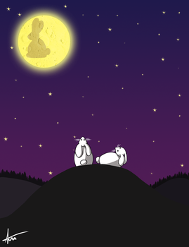 The Bunny On The Moon by Kayla-Anne-Bamby