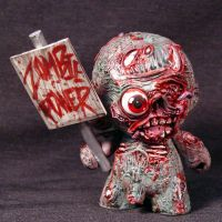 Munny Zombie with Zombie  Kid Robot OOAK by Undead-Art