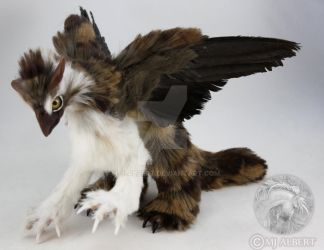 Poseable Gryphon Griffon Art Doll by M-J-Albert