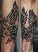 crow tattoo by graynd