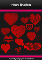 Photoshop Heart Brushes by DesignQueen