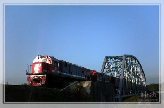 Train over Progo by iwoth