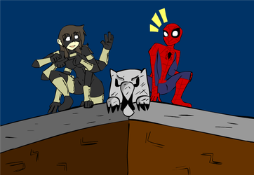 Spinnerette Loves Spiderman by TalonFoxtrot