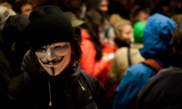 Anonymous Protester by morgoth87
