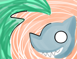Watermelon Tsunami Shark by Glopesfire