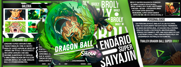 Cover Broly DB Show by AlucardkunDesign