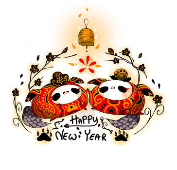 Happy Chinese New Year by Piffi-sisters