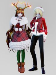 [MMD Creepypasta Model DL] Christmas Ben and Sally by i-Mintyyy