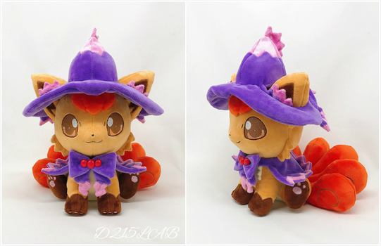 Halloween vulpix plush by d215lab