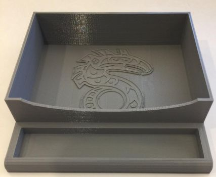 Shadowrun-themed dice rolling tray and organizer by mephron