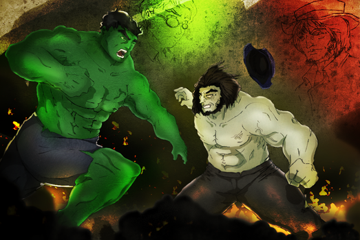 Dr. Banner Vs Dr. Jekyll by flintmarqus9