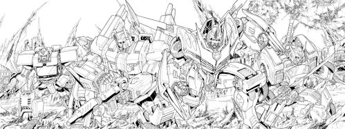 TF MTMTE 01 cover lineart by markerguru