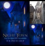 Night Town Psd-Tutorial by zummerfish