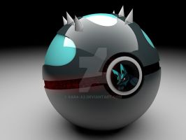 Lucario pokeball by Sara-A2