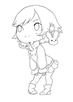 Chibi Line art by qeius