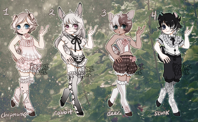 Dainty Set: Woodland Mori -Flatprice- cLOSED HOLY- by Pajuxi-Adopts