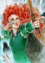 ACEO #82 Merida by RoteGruetze