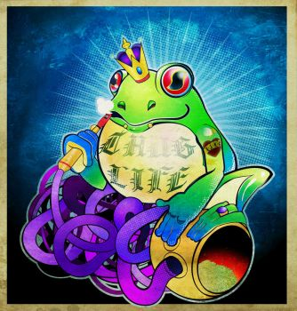 Frog King-KANG by tad-aster