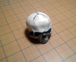 White Skull Cymbal Topper by Gx3RComics